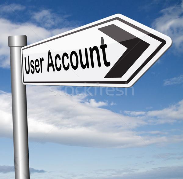 Usuario cuenta miembro abierto Foto stock © kikkerdirk