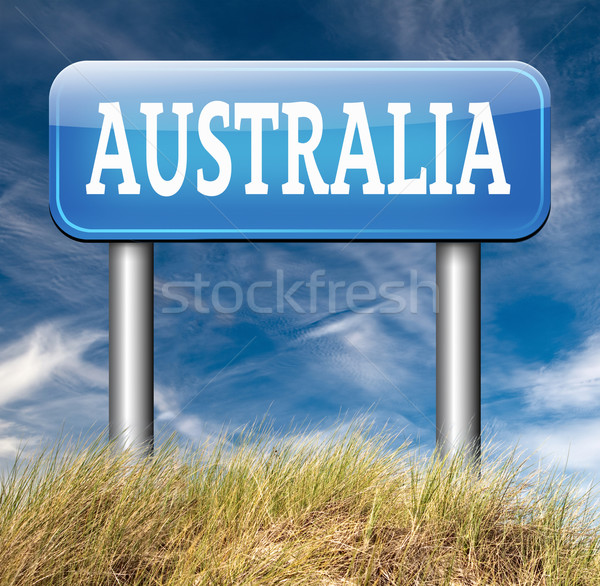 australia sign Stock photo © kikkerdirk