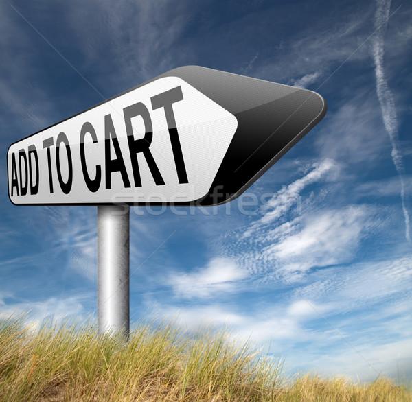 Kosár kezdet vásárlás most online webshop Stock fotó © kikkerdirk