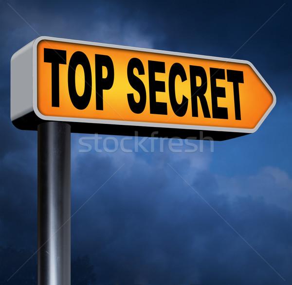 Felső titok akta bizalmas bizalmas titkolózás Stock fotó © kikkerdirk
