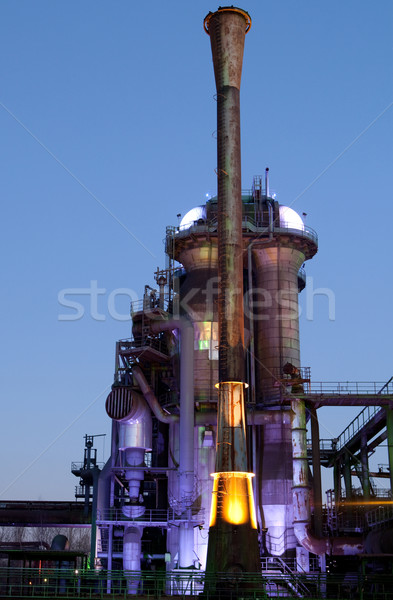 steel industry blast furnace Stock photo © kikkerdirk