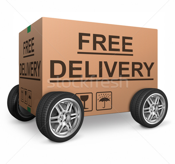 free shipping cardboard box Stock photo © kikkerdirk
