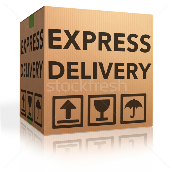 Livraison express spéciale ligne internet Photo stock © kikkerdirk