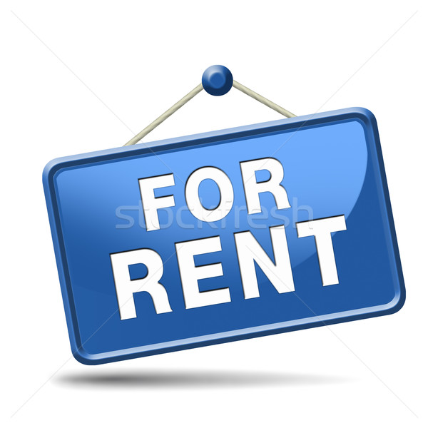 for rent sign Stock photo © kikkerdirk