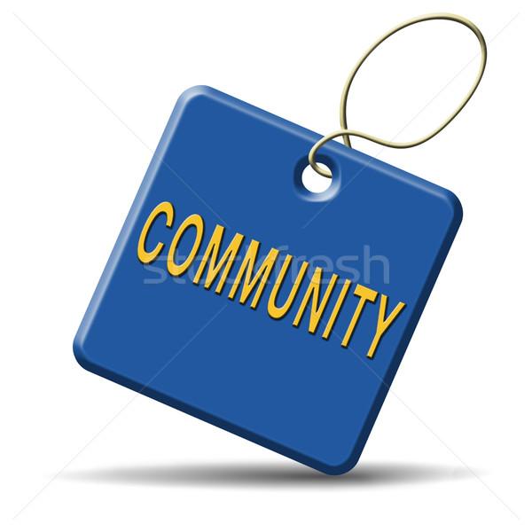 Photo stock: Communauté · locale · humaine · groupe · de · gens · ensemble · sociale