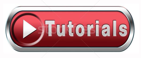 Tutoriel apprendre ligne vidéo leçon bleu Photo stock © kikkerdirk