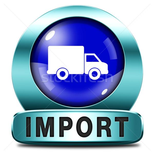 импортный икона международных всемирный глобальный торговли Сток-фото © kikkerdirk