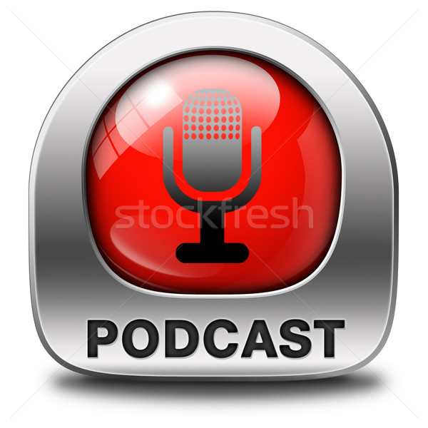 Podcast ouvir Áudio música viver córrego Foto stock © kikkerdirk