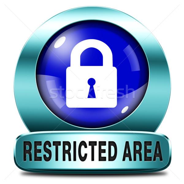 Beperkt toegang sleutel icon wachtwoord beschermd Stockfoto © kikkerdirk