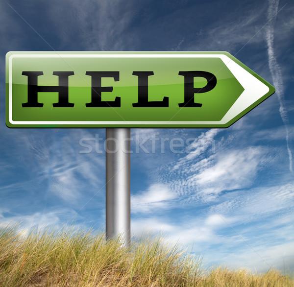 Helpen gezocht online ondersteuning geven helpende hand Stockfoto © kikkerdirk