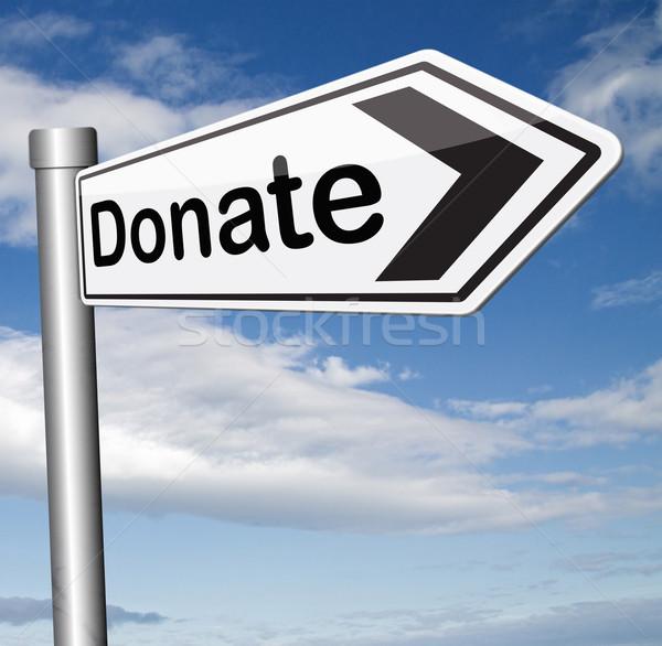 Faire un don œuvre de bienfaisance donner contribution aider fonds Photo stock © kikkerdirk