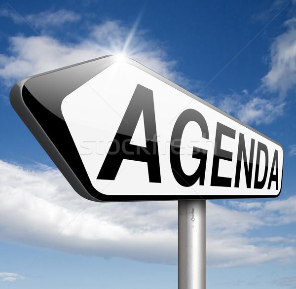 L'ordre du jour hebdomadaire calendrier affaires calendrier Photo stock © kikkerdirk