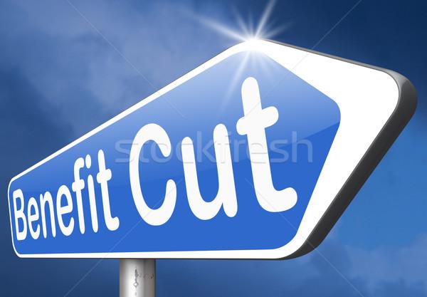 Beneficiar cortar imposto habitação criança social Foto stock © kikkerdirk