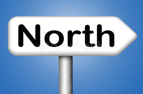 north sign Stock photo © kikkerdirk
