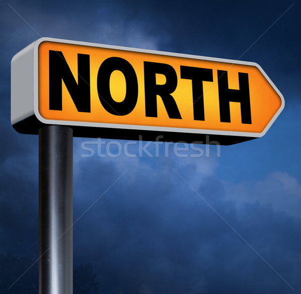 north sign Stock photo © kikkerdirk