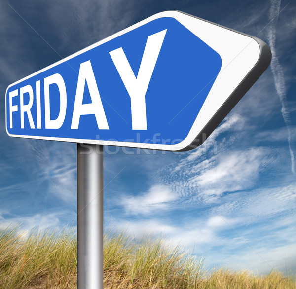 Teken volgende morgen dag week agenda Stockfoto © kikkerdirk