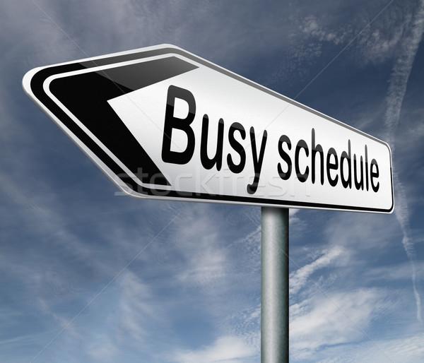 Meşgul zamanlamak tok gündem gerek Stok fotoğraf © kikkerdirk
