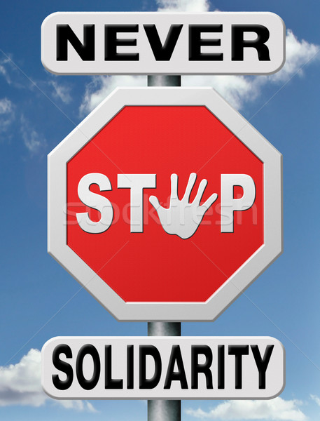 never stop solidarity Stock photo © kikkerdirk