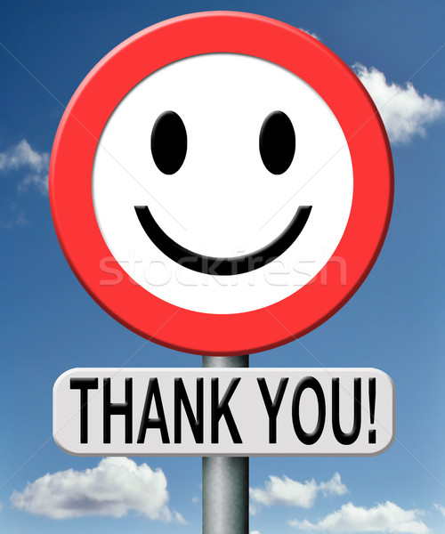 Köszönjük köszönet kifejez hála jegyzet jelzőtábla Stock fotó © kikkerdirk