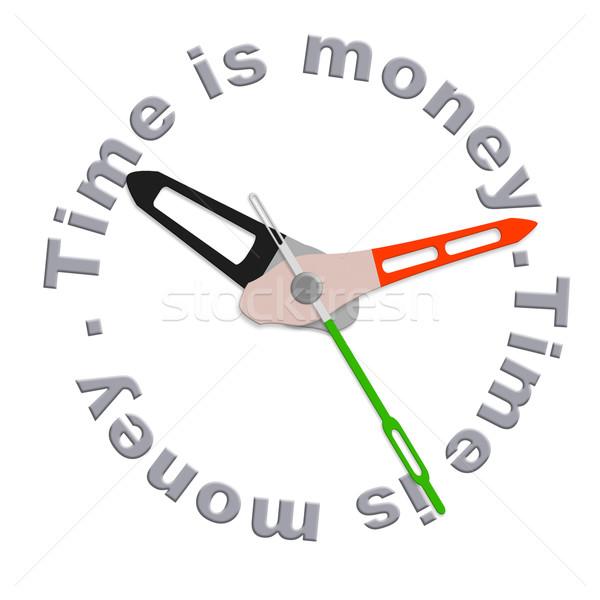 Время-деньги время изолированный часы деньги икона Сток-фото © kikkerdirk