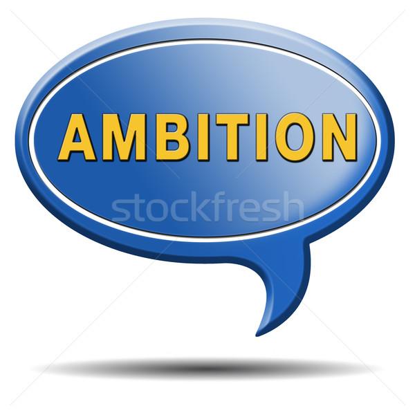Ambíció szett célok apró jövő sikeres Stock fotó © kikkerdirk