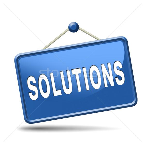 çözümler çözmek sorunları arama bulmak çözüm Stok fotoğraf © kikkerdirk
