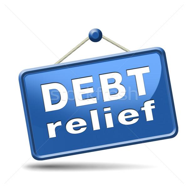 Сток-фото: долг · рельеф · кредитных · жилье · пузырьки · Финансы