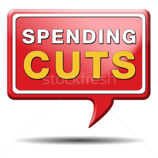 spending cuts Stock photo © kikkerdirk