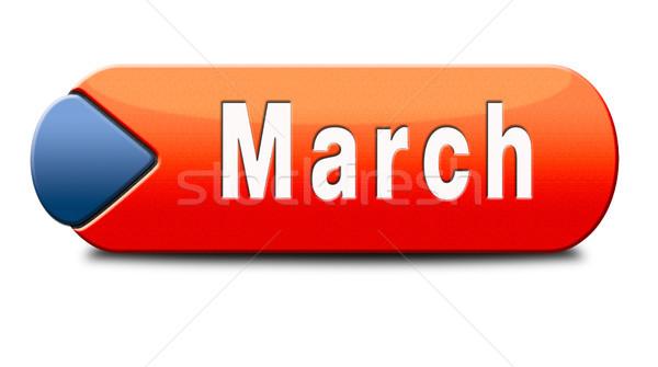 march icon Stock photo © kikkerdirk