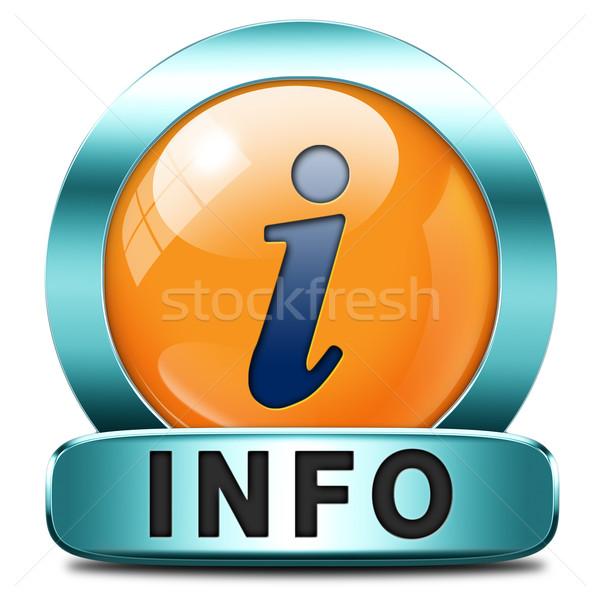 info icon Stock photo © kikkerdirk