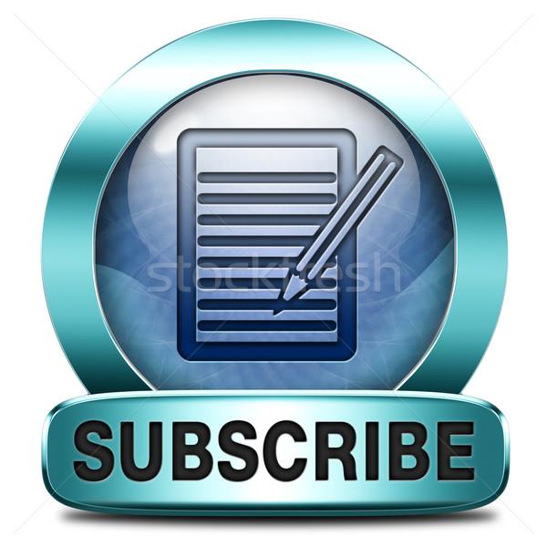 subscribe button Stock photo © kikkerdirk