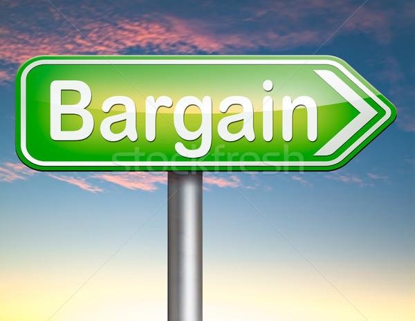 Koopje verkoop promotie label prijs groot Stockfoto © kikkerdirk