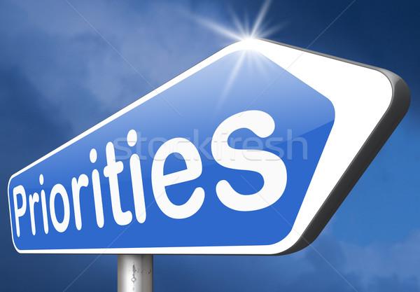 Belangrijk hoog urgentie belang informatie top Stockfoto © kikkerdirk
