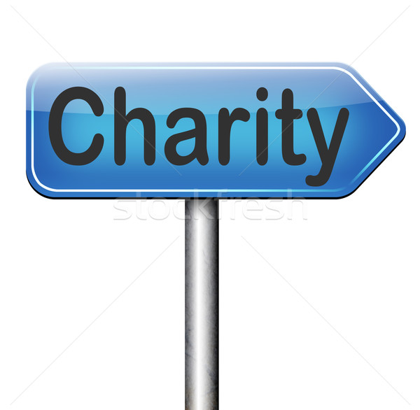 Stock photo: charity donation