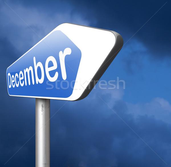 December laatste maand jaar winterseizoen evenement Stockfoto © kikkerdirk