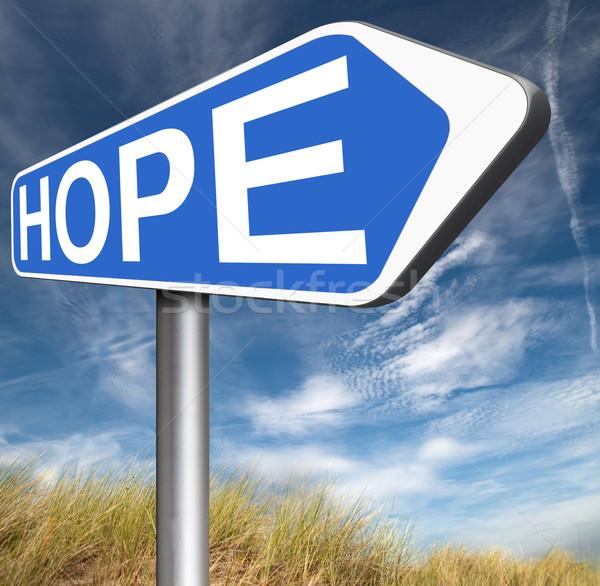 Esperanza signo brillante futuro esperanzado mejor Foto stock © kikkerdirk