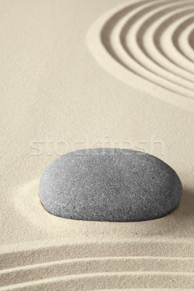 Zen meditáció kert fürdő pihenés japán kultúra Stock fotó © kikkerdirk