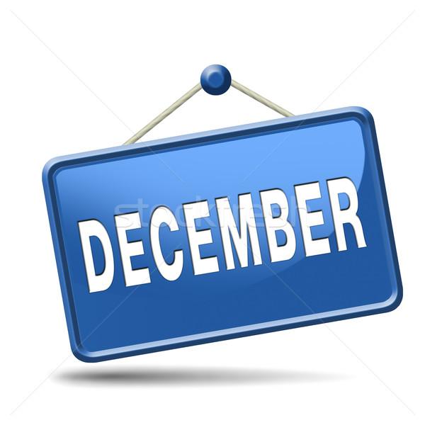 December laatste maand jaar winterseizoen Stockfoto © kikkerdirk