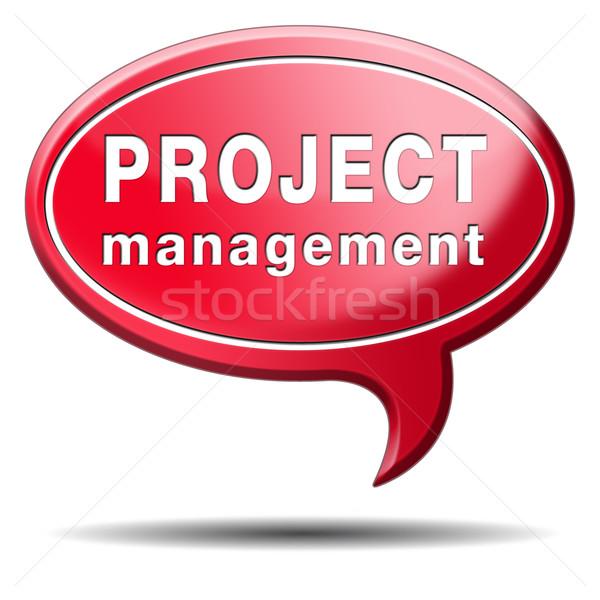 Projekt vezetőség stratégia tervez üzlet stratégiák Stock fotó © kikkerdirk