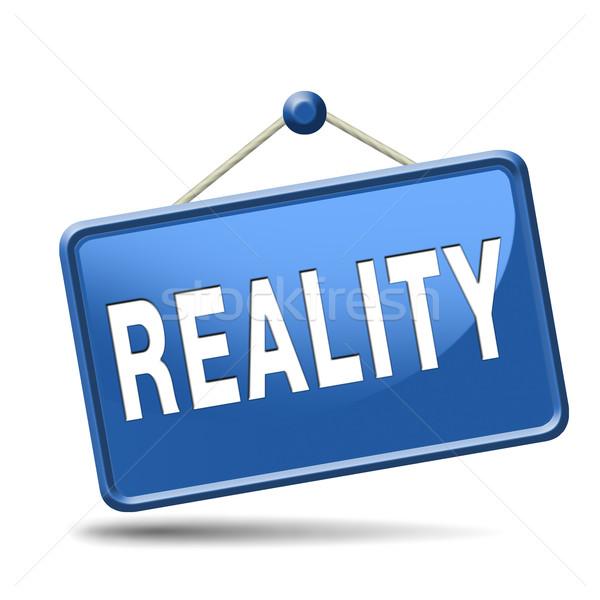 Realtà verificare effettivo realistico obiettivi segno Foto d'archivio © kikkerdirk