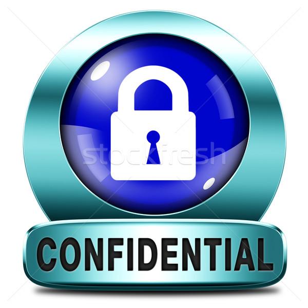 Confidenziale top segreto informazioni rosso Foto d'archivio © kikkerdirk