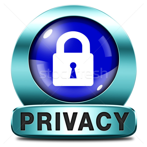 Stock photo: privacy