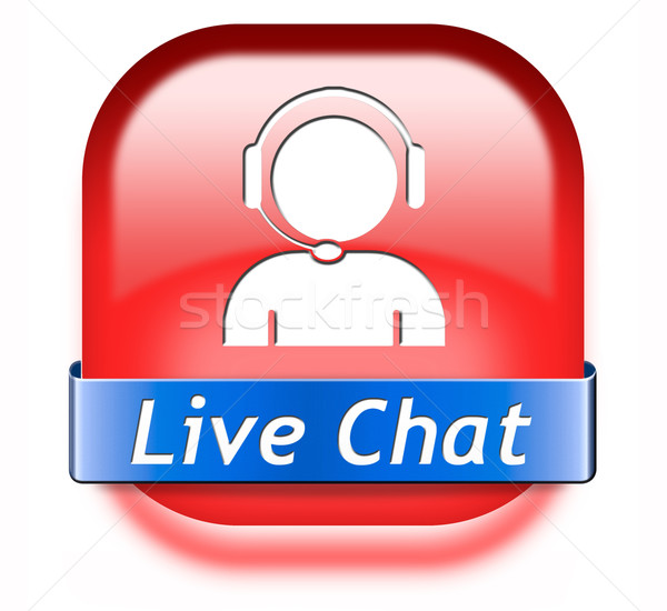 live chat button Stock photo © kikkerdirk