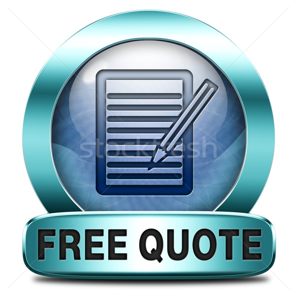 free quote Stock photo © kikkerdirk
