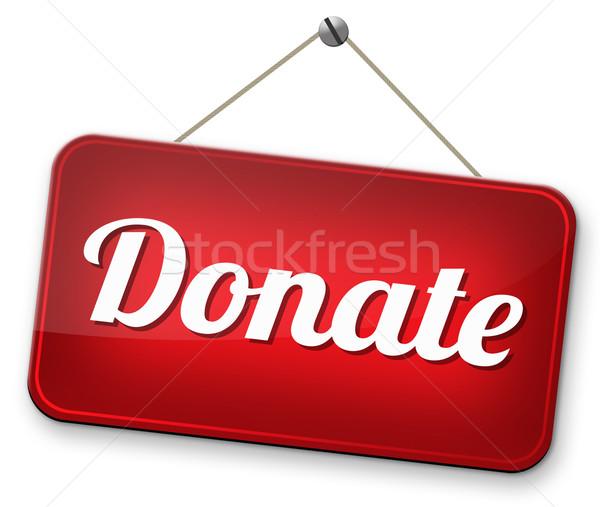 жертвовать благотворительность давать помочь фонд деньги Сток-фото © kikkerdirk