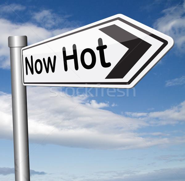 Foto stock: Agora · quente · novo · tendência · notícia · assinar