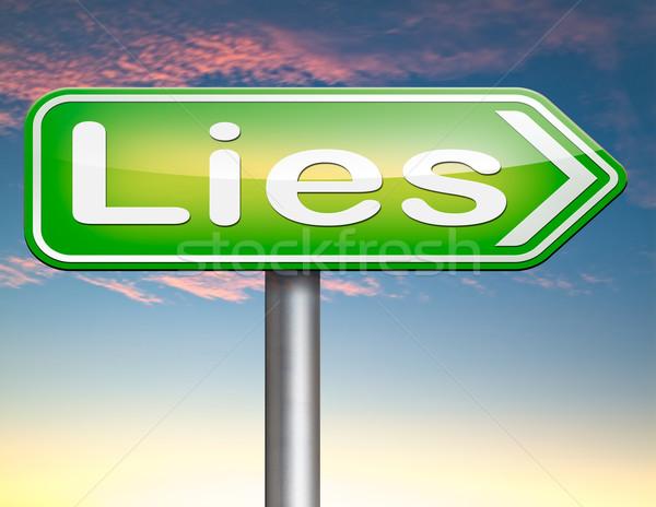 Mentiras promessa quebrar engano texto ninguém Foto stock © kikkerdirk