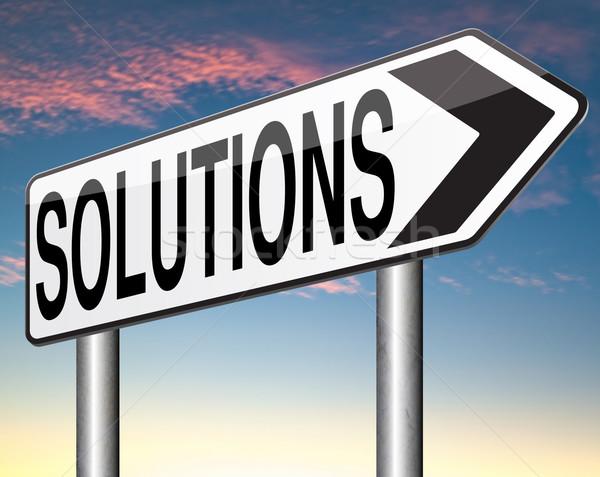 ストックフォト: ソリューション · 解決する · 問題 · 問題 · 検索 · 見つける