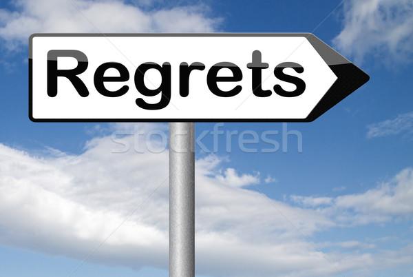 regrets sign Stock photo © kikkerdirk