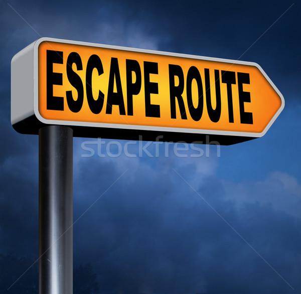 Escapar rota segurança estresse quebrar livre Foto stock © kikkerdirk